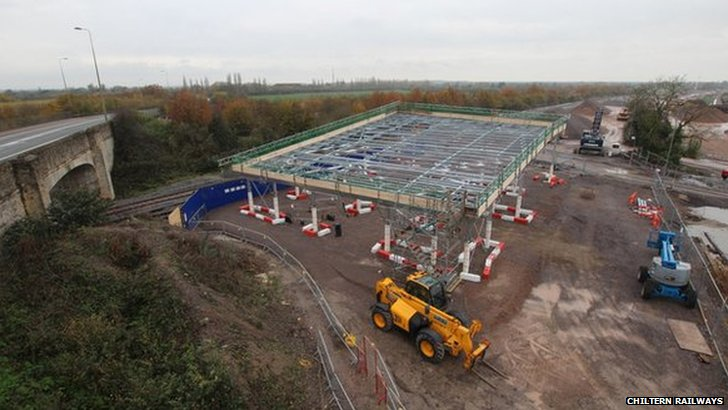 Oxford Parkway station construction