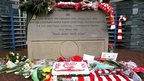 Hillsborough Disaster memorial stone at Sheffield Wednesday Football Club