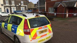 Police car at Wilkinson Close
