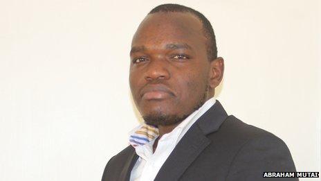 Kenyan blogger Abraham Mutai