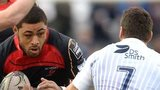 Taulupe Faletau takes on Cardiff Blues on January 1, 2015