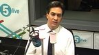 Ed Miliband speaks to 5 live about grandfather who died in Holocaust.