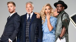Ricky Wilson, Sir Tom Jones, Rita Ora and will.i.am