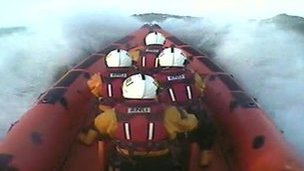 lifeboat crews on rescue