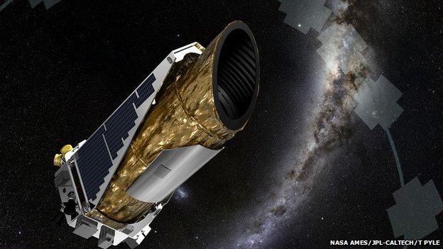 Artist's impression of Kepler telescope