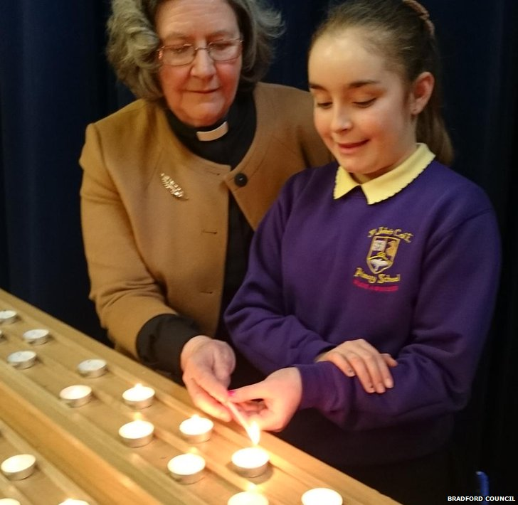 Pupil lighting candle