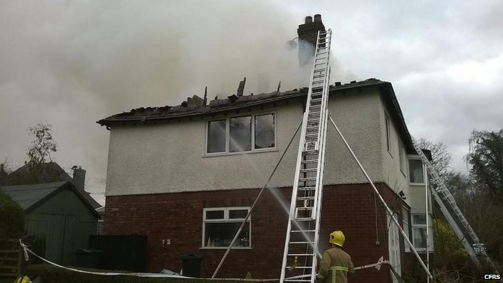 House fire in Chester