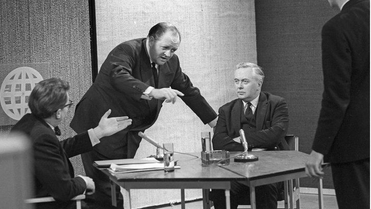 Harold Wilson, Robin Day and Richard Dimbleby