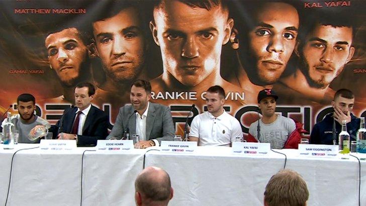 Frankie Gavin press conference