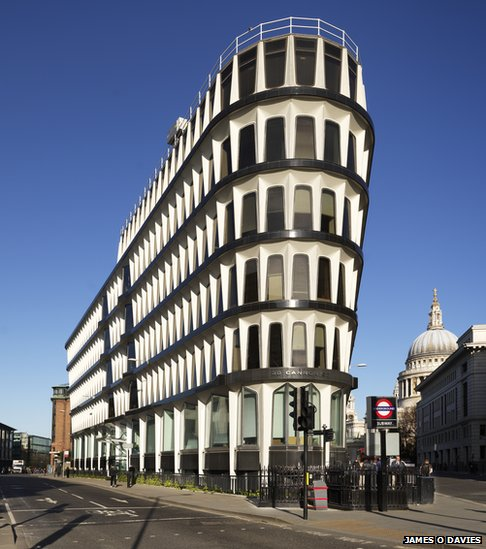 One of the buildings listed is 30 Cannon Street (formerly Credit Lyonnais) London, the first building to be fully clad in double-skinned panels of glass-fibre reinforced concrete (c) James O Davies