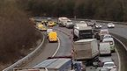 Part of the M5 in Devon has been closed