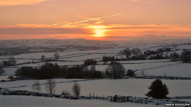 Snowy landscape at Netherthong