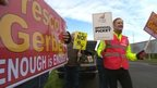 Strike action at Refresco Gerber factory in Bridgwater, Somerset