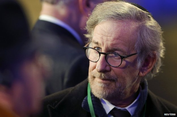 Film director Steven Spielberg at the ceremony at Auschwitz, 27 January