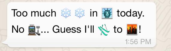 Emojis with snow