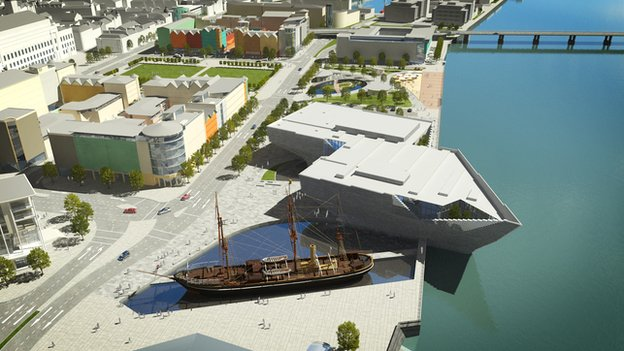 Artist's impression of V&A Dundee Museum