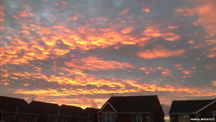 Sunset in Bedlington