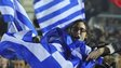 Syriza supporter with Greek flag