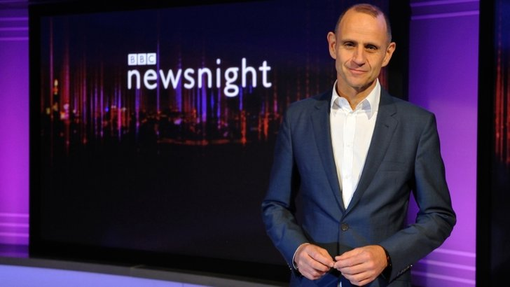 Evan Davis and Newsnight background