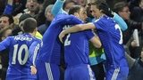 Chelsea's Branislav Ivanovic celebrates scoring against Liverpool in the Capital One Cup semi-final