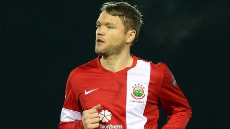Grant McCann made his Linfield debut at Ferney Park