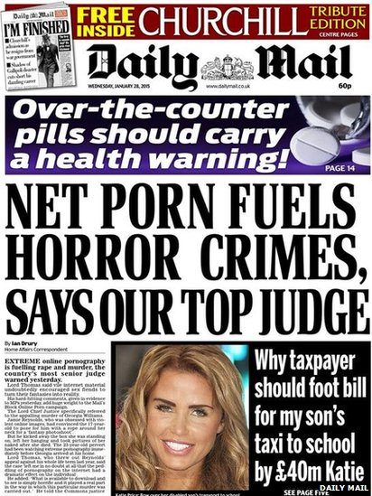 Tomorrow's Mail front page
