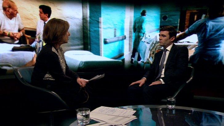 Andy Burnham and Kirsty Wark on Newsnight