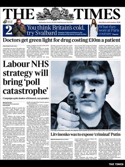 Tomorrow's Times front page