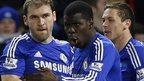 Branislav Ivanovic celebrates his winning goal for Chelsea