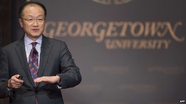 World Bank Group President Jim Yong Kim delivers Georgetown University's inaugural Global Futures lecture on Ebola virus in Washington. 27 Jan 2015