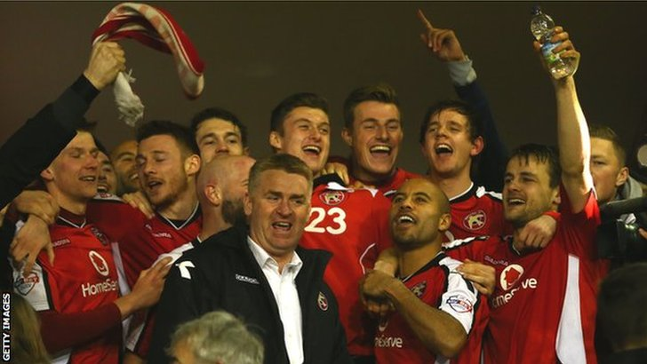 Walsall celebrate reaching Wembley