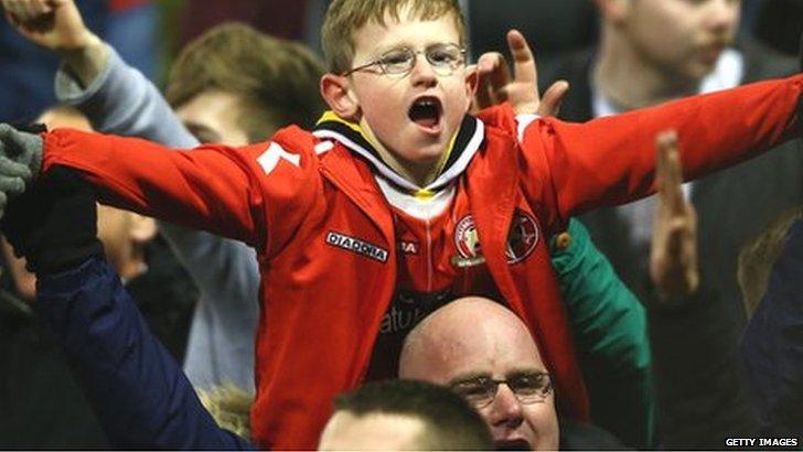 Walsall fans celebrate