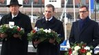Bailiff William Bailhache, Lieutenant General Sir John McColl and Chief Minister Senator Ian Gorst were in attendance