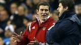 Nigel Clough and Mauricio Pochettino