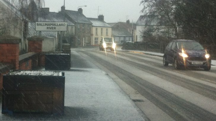 Picture of snow on road