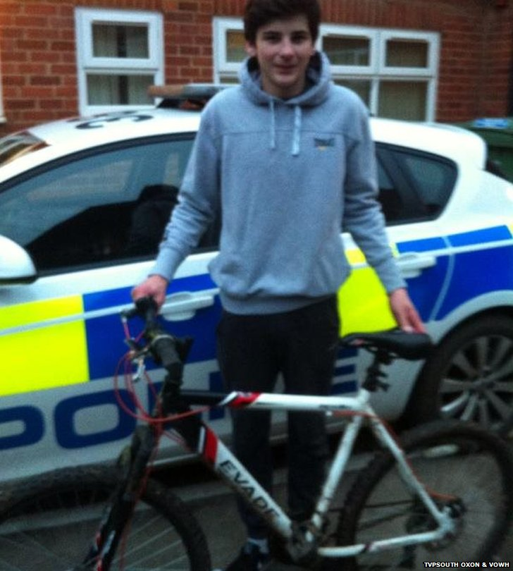 Owner receives stolen bike back from police