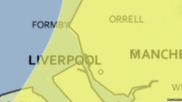 Yellow warning for snow