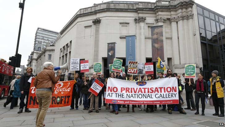 National Gallery staff protest