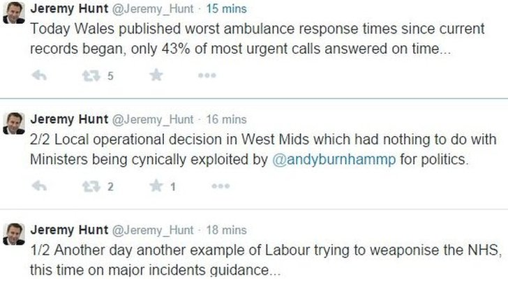 Jeremy Hunt tweets