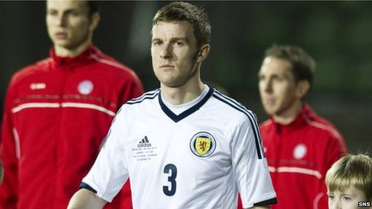 Scotland defender Paul Dixon