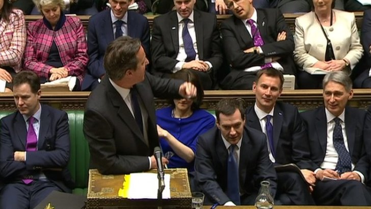 David Cameron answers questions at PMQs - with help from George Osborne