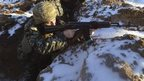 Ukrainian soldier in Luhansk region (24 Jan)