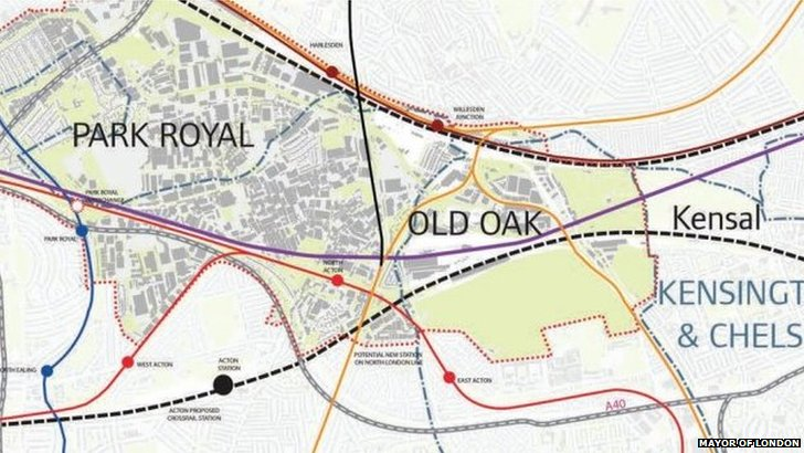 Old Oak Common map
