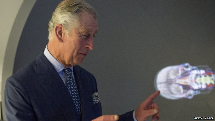 Prince Charles at St Mary's hospital