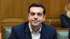 Alexis Tsipras at the inaugural government meeting