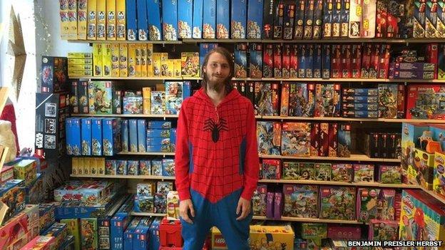Benjamin Preisler Herbst in his toy shop