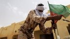An MNLA fighter in KIdal, northern Mali, on 27 July 2013