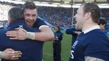 Ryan Wilson and Ryan Grant celebrate with Scotland