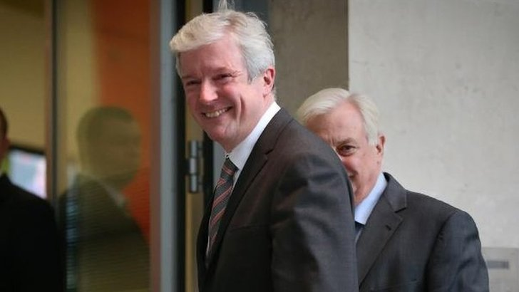 Lord Hall arriving at New Broadcasting House on 22 November 2012