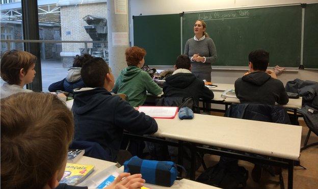 Gabrielle Derameaux in her class